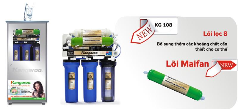 máy lọc nước kangaroo kg108(8 lõi lọc)không vỏ tủ
