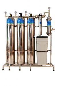 Hệ thống Lọc nước đầu nguồn cao cấp Goodme 6 cấp lọc màng UF, van cơ,  làm mềm nước – Inox 304